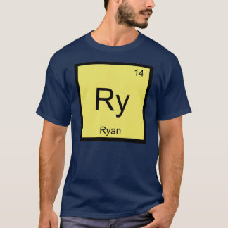 Ryan Name Chemistry Element Periodic Table T-Shirt