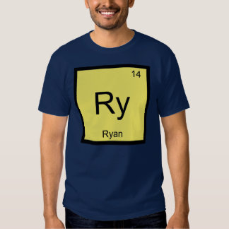 Ryan Name Chemistry Element Periodic Table Tees