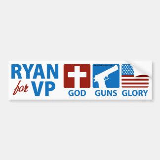 Ryan para dios de VP dispara contra a la pegatina  Etiqueta De Parachoque