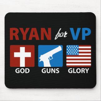 Ryan para dios de VP dispara contra el cojín de ra Alfombrillas De Raton