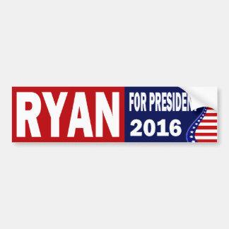 Ryan para el presidente 2016 pegatina para auto