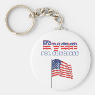 Ryan para la bandera americana patriótica del cong llavero personalizado