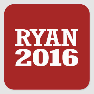 Ryan - Paul Ryan 2016 Pegatina Cuadrada