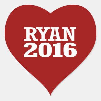 Ryan - Paul Ryan 2016 Pegatina En Forma De Corazón