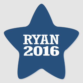 Ryan - Paul Ryan 2016 Pegatina En Forma De Estrella