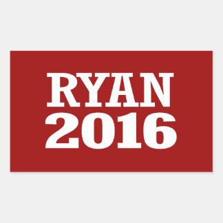 Ryan - Paul Ryan 2016 Pegatina Rectangular