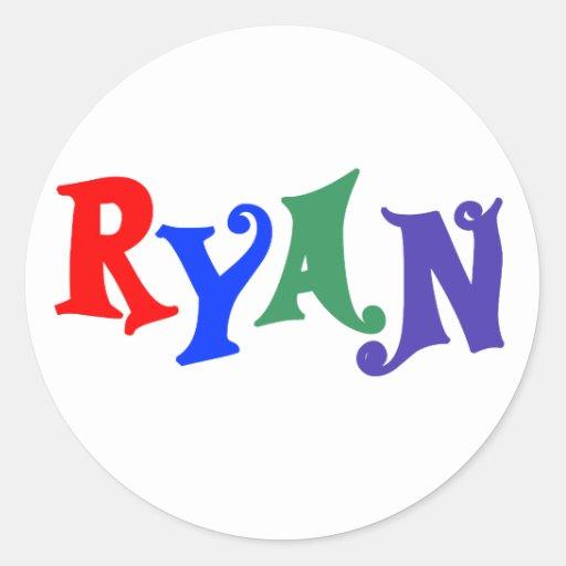 Ryan Pegatina Redonda