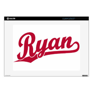 "Ryan Red Script Logo Skin For 15"" Laptop"