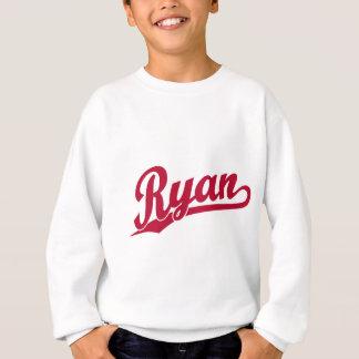 Ryan Red Script Logo Sweatshirt