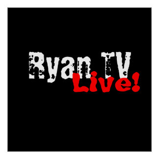 Ryan TV Live!Commercial Poster