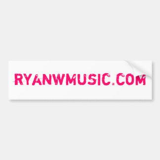 Ryan W. Bumpersticker Car Bumper Sticker