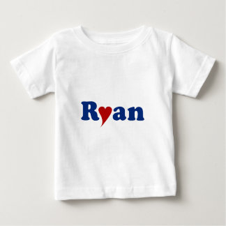 Ryan with Heart Baby T-Shirt