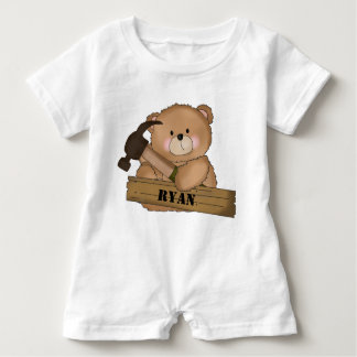 Ryan's Builder Bear Personalized Gifts Baby Romper