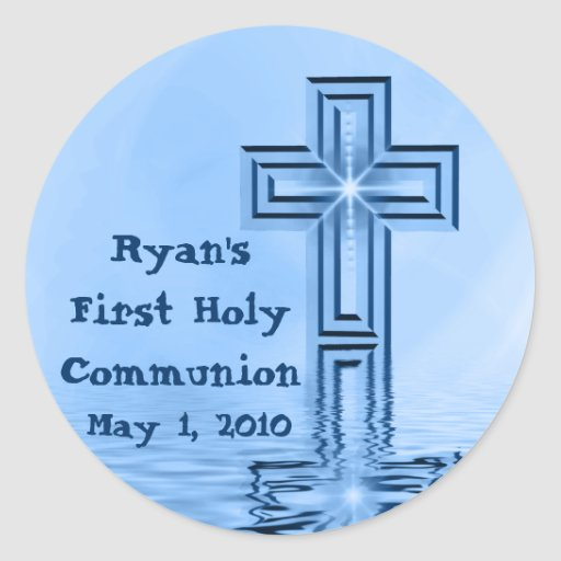 Ryan's First Holy Communion Stickers