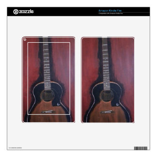 Ryan's Guitar Decal For Kindle Fire