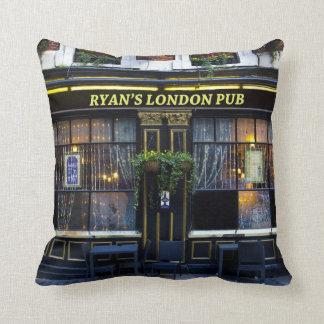 Ryan's London Pub Throw Pillow