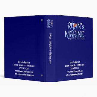 Ryan's Marine Blue 3 Ring Binder