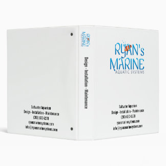 Ryan's Marine White 3 Ring Binder
