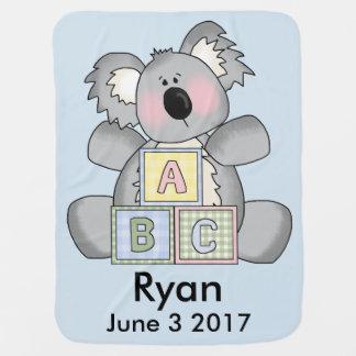 Ryan's Personalized Koala Baby Blanket