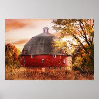 Ryan's Round Barn Poster