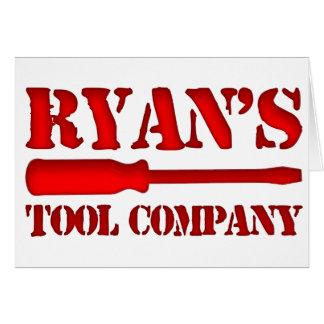 Ryan's Tool Company Card