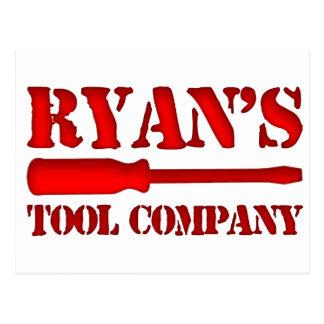 Ryan's Tool Company Postcard