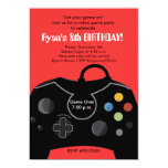 """RYAN'S VIDEO GAME PARTY 5"""" X 7"""" INVITATION CARD"""