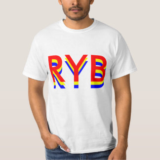 "RYB colors ""light trail"" design red yellow blue. T-Shirt"