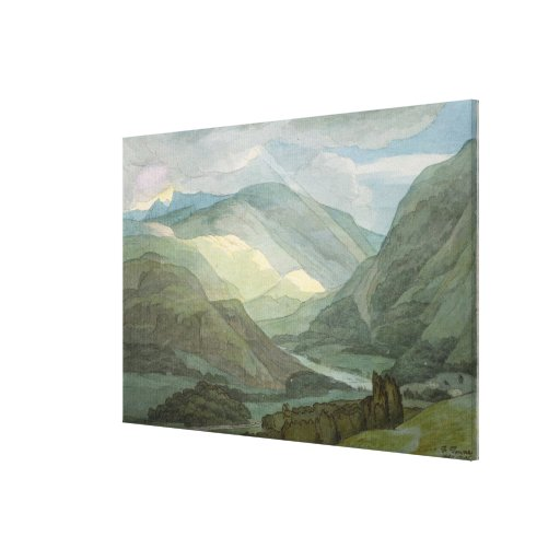 Rydal Water, 1786 (w/c) Canvas Print