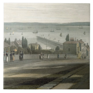 Ryde, from 'A Voyage Around Great Britain Undertak Ceramic Tile