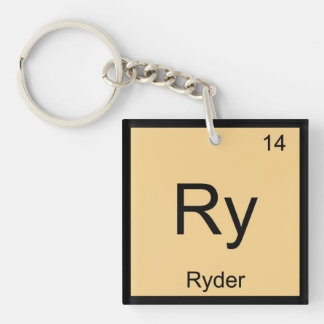 Ryder Name Chemistry Element Periodic Table Single-Sided Square Acrylic Keychain