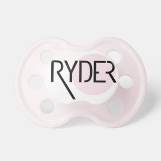 """""""Ryder"""" Personalized Name Pacifier"""