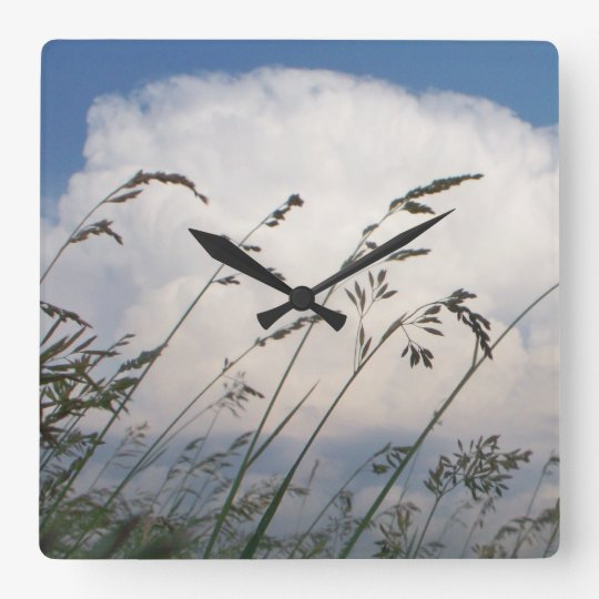 Rye and Sky Peaceful Wall Clock