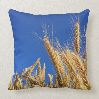 Rye Blue Sky Countryside Pillow