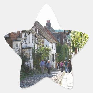 Rye hermoso en Inglaterra Calcomanía Forma De Estrella Personalizadas
