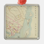 Rye, New York Square Metal Christmas Ornament