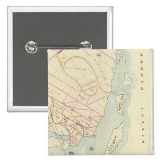 Rye, Nueva York Pin Cuadrado