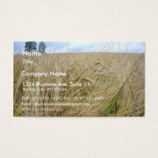 Rye Plants Seed Business Card