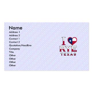 Rye, Texas Business Card