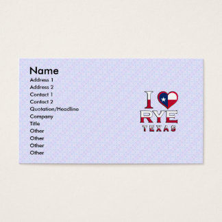 Rye, Texas Business Card