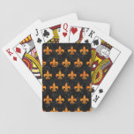 Ryl1 Bk-or Marble (r) Playing Cards at Zazzle