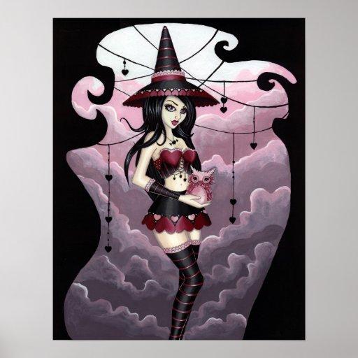 Ryla - Valentine's Day Witch Art Poster