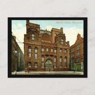 Rylands Library, Manchester UK 1909 Vintage postcard