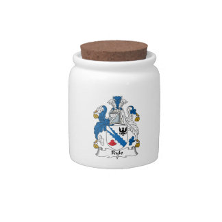 Ryle Family Crest Candy Jars