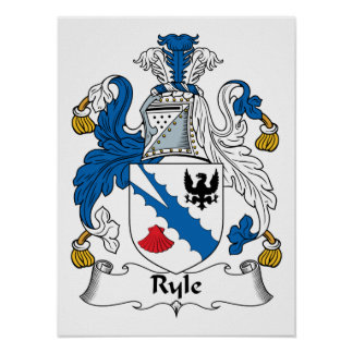 Ryle Family Crest Print