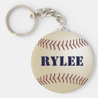 Rylee Baseball Keychain