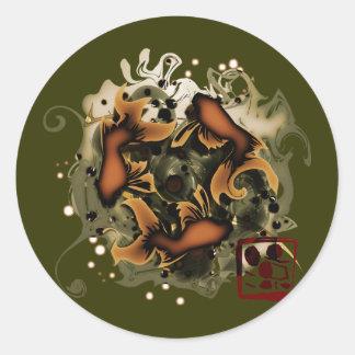 Ryō Round Stickers