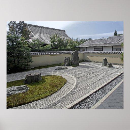 Ryogen-en el jardín del templo - Kyoto Japón Posters