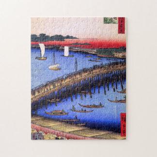 Ryōgoku Bridge and the Great Riverbank (両国橋大川ばた) Jigsaw Puzzle