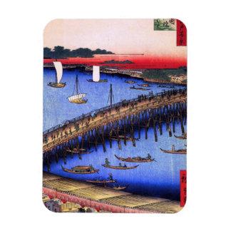 Ryōgoku Bridge and the Great Riverbank (両国橋大川ばた) Magnet